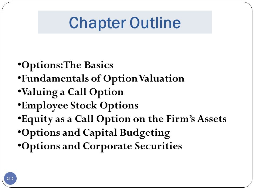 Executive stock options valuation