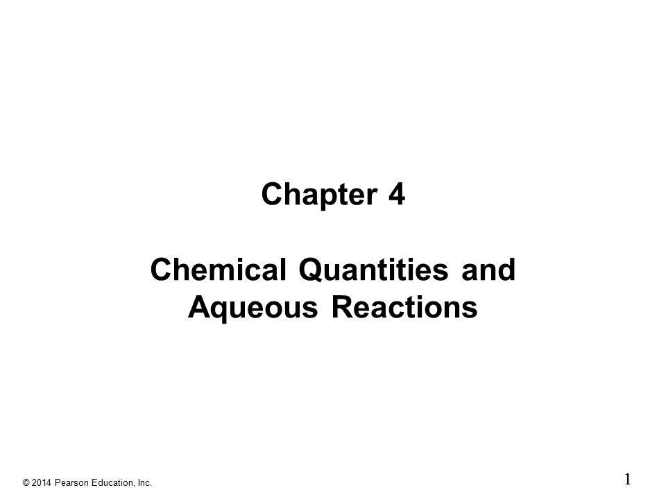 Chapter 4 Chemical Quantities and