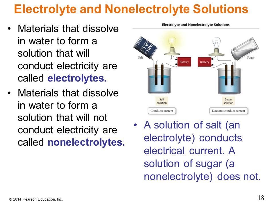 Electrolyte and Nonelectrolyte Solutions