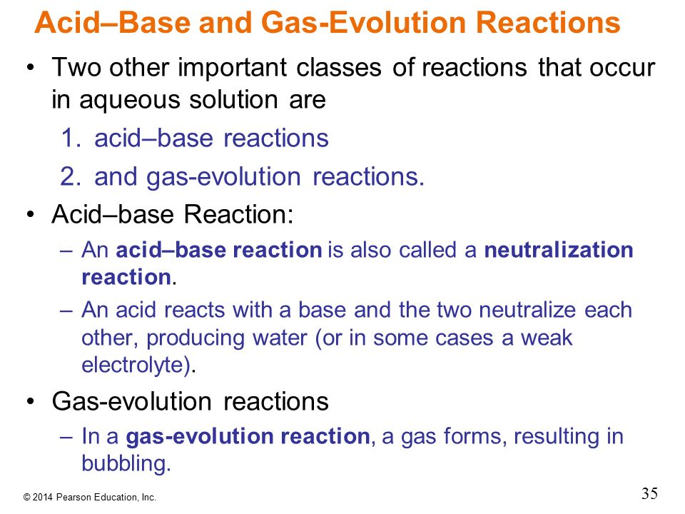 Acid–Base and Gas-Evolution Reactions