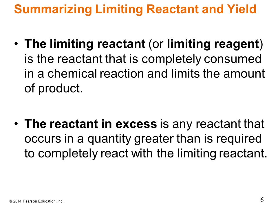 Summarizing Limiting Reactant and Yield