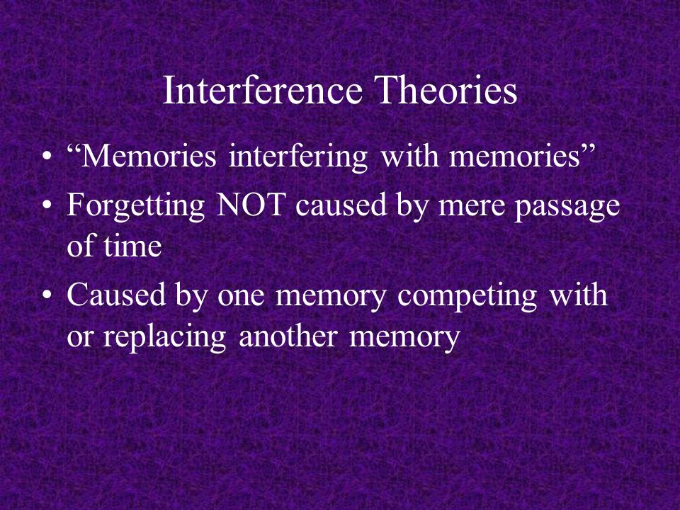 theories of forgetting