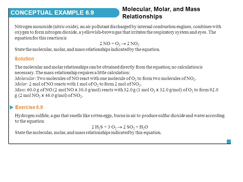 molecular weight and density relationship to mass
