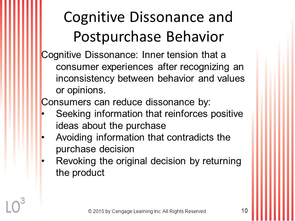 a study on the role of cognitive dissonance in decision making Cognitive dissonance was first investigated by leon festinger, arising out of a participant observation study of a cult which believed that the earth was going to be destroyed by a flood, and what happened to its members — particularly the really committed ones who had given up their homes and jobs to work for the cult — when the flood did not happen.