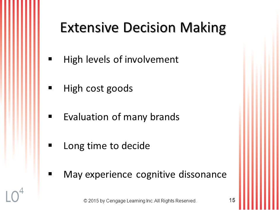 comparision of high involvement consumer decision A novel approach to practical consumer decision making that provides strategies  to address an  how involved should you be have you  do a thorough game  console comparison before making a decision high value consumer decisions.