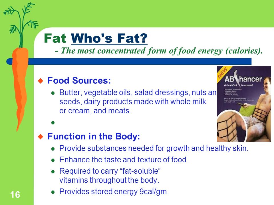 Nutrients The food you eat is a source of nutrients. Nutrients are ...