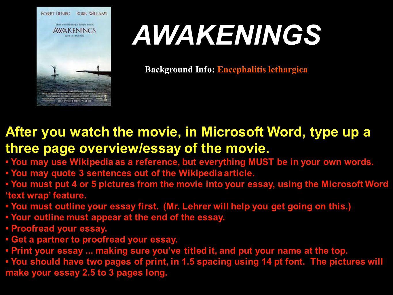 awakenings essays