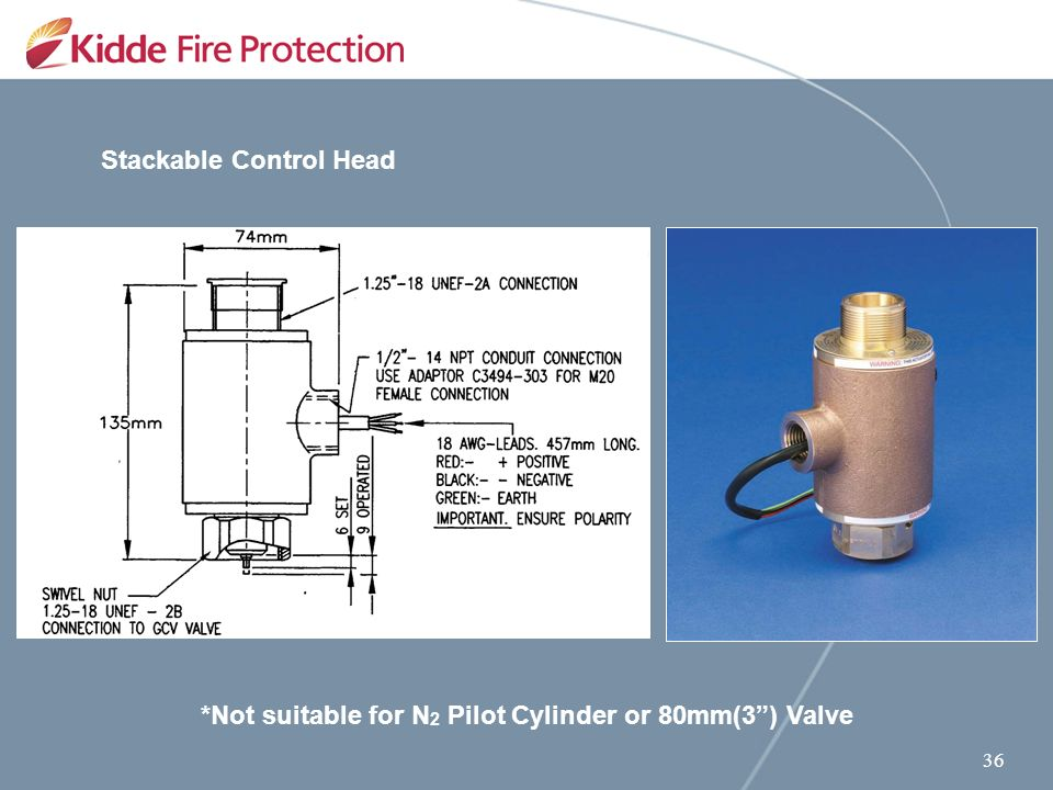 Kidde Engineered Fire Suppression System 25 Bar Equipment