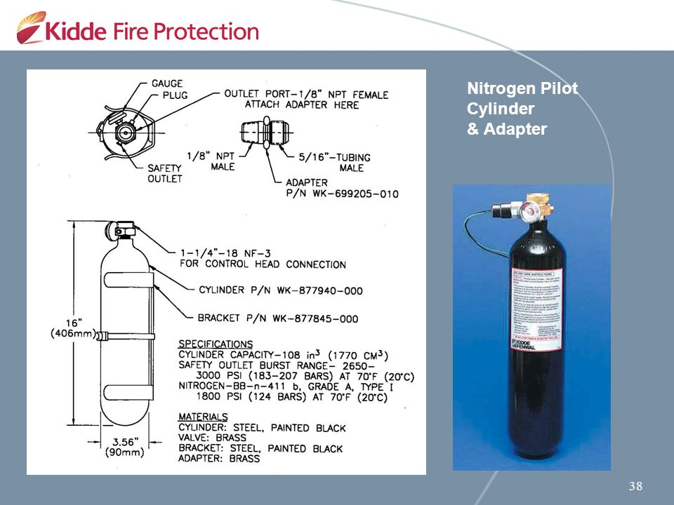 Kidde Engineered Fire Suppression System 25 Bar Equipment