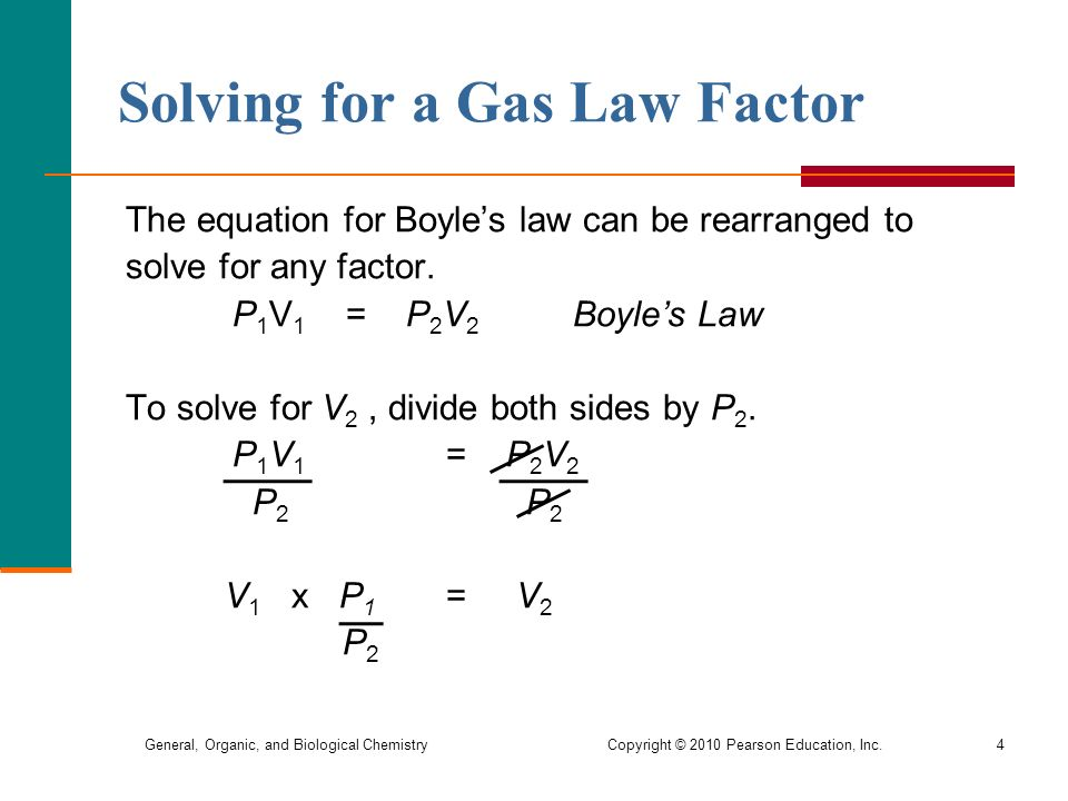 how to solve gas laws