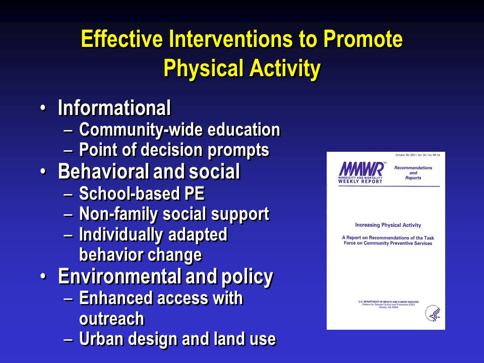 Effective Interventions to Promote Physical Activity