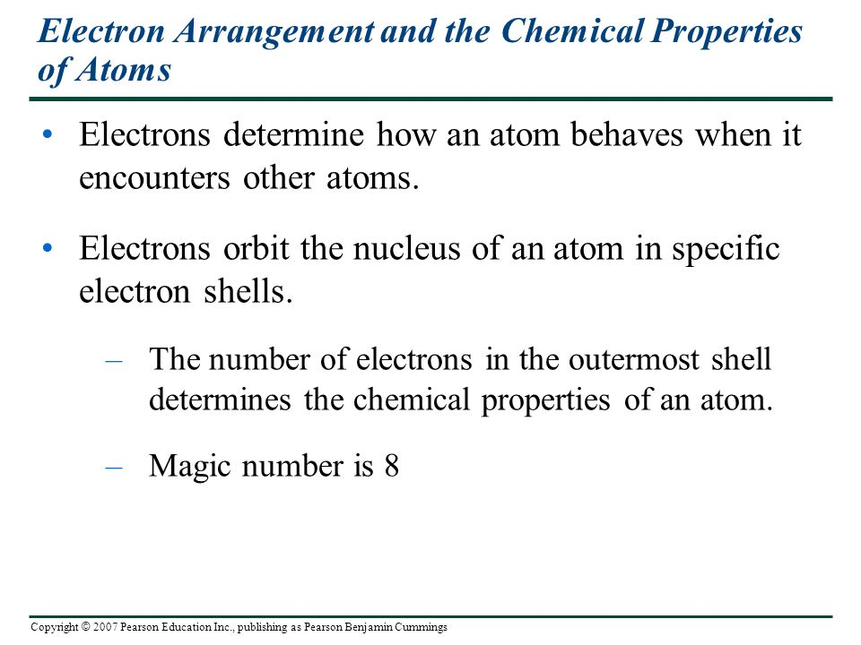 Electron Arrangement and the Chemical Properties of Atoms