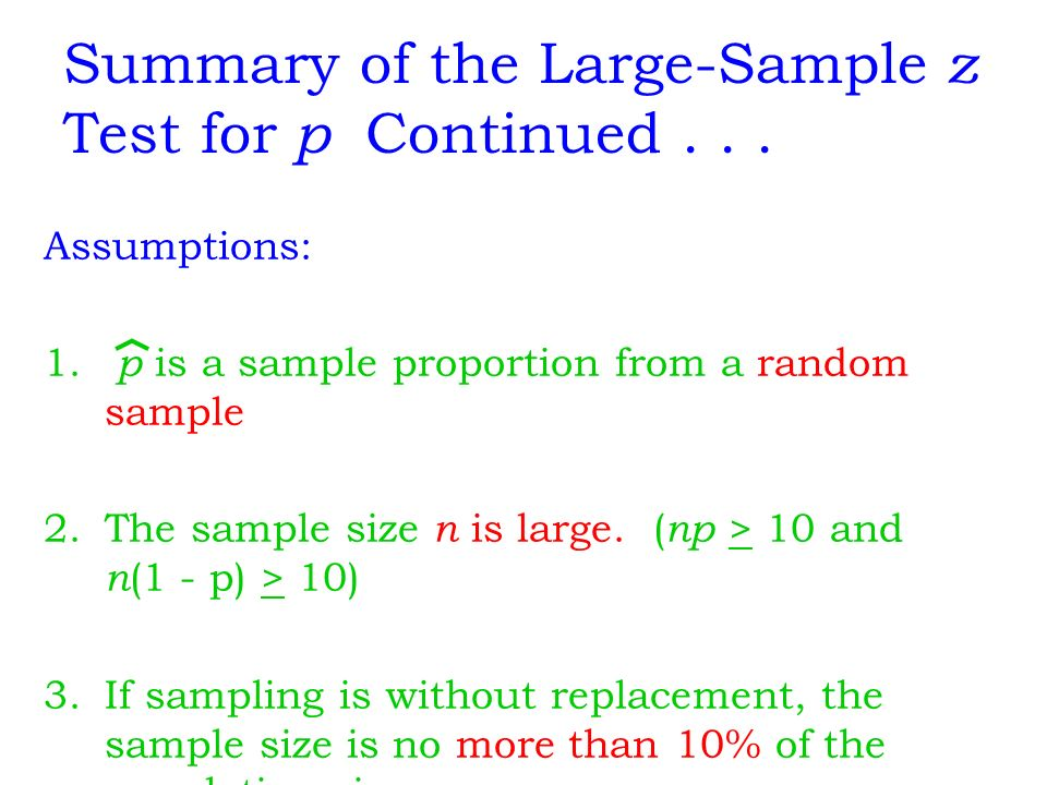 Hypothesis Testing Using a Single Sample - ppt download