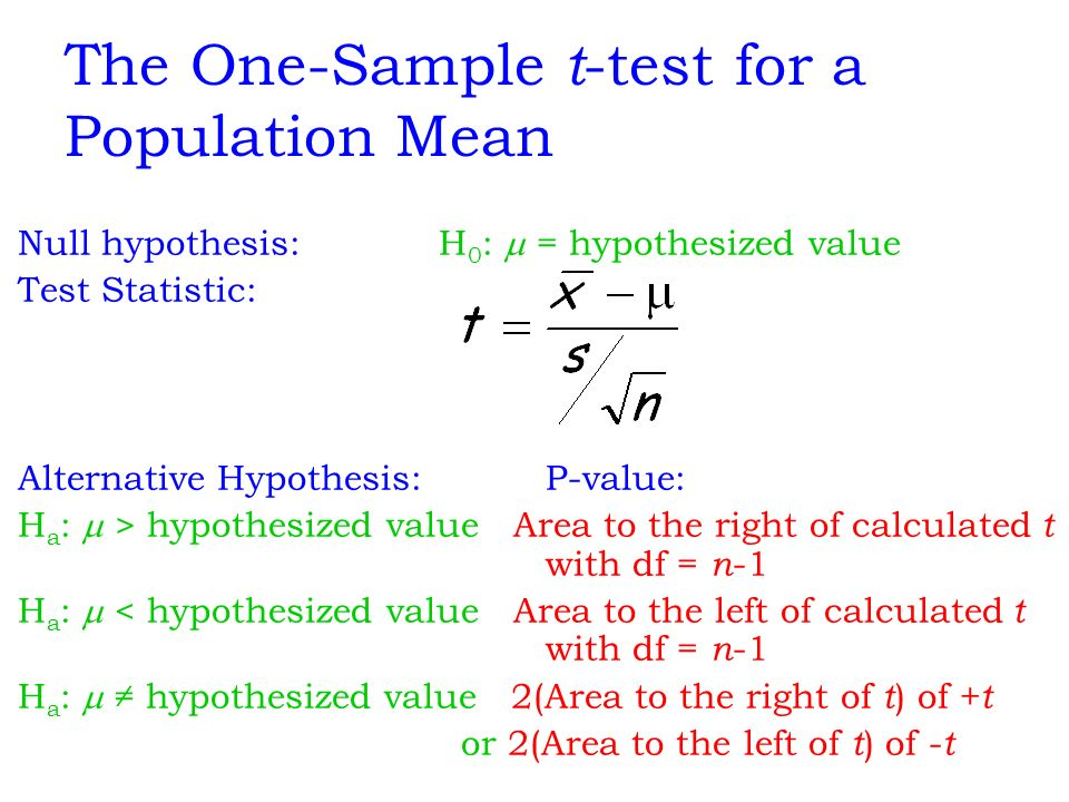 one sample t test pdf