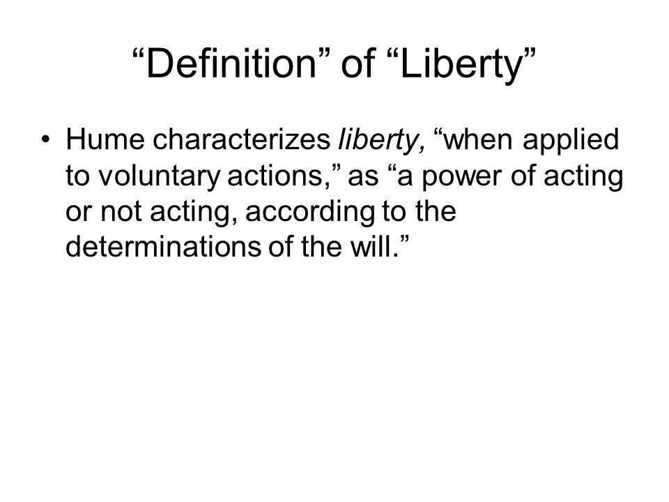 hume of liberty and necessity pdf