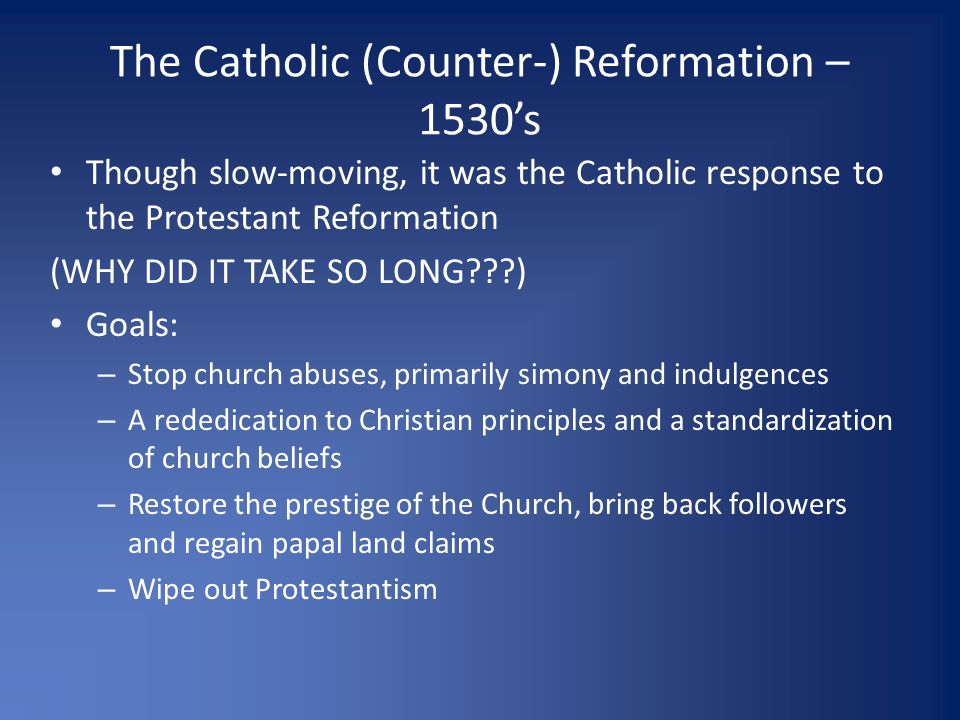 what did the catholic church do to fight back the reformation Start studying the counter-reformation learn how did the catholic church try to keep people and the index of forbidden books to fight protestantism and.