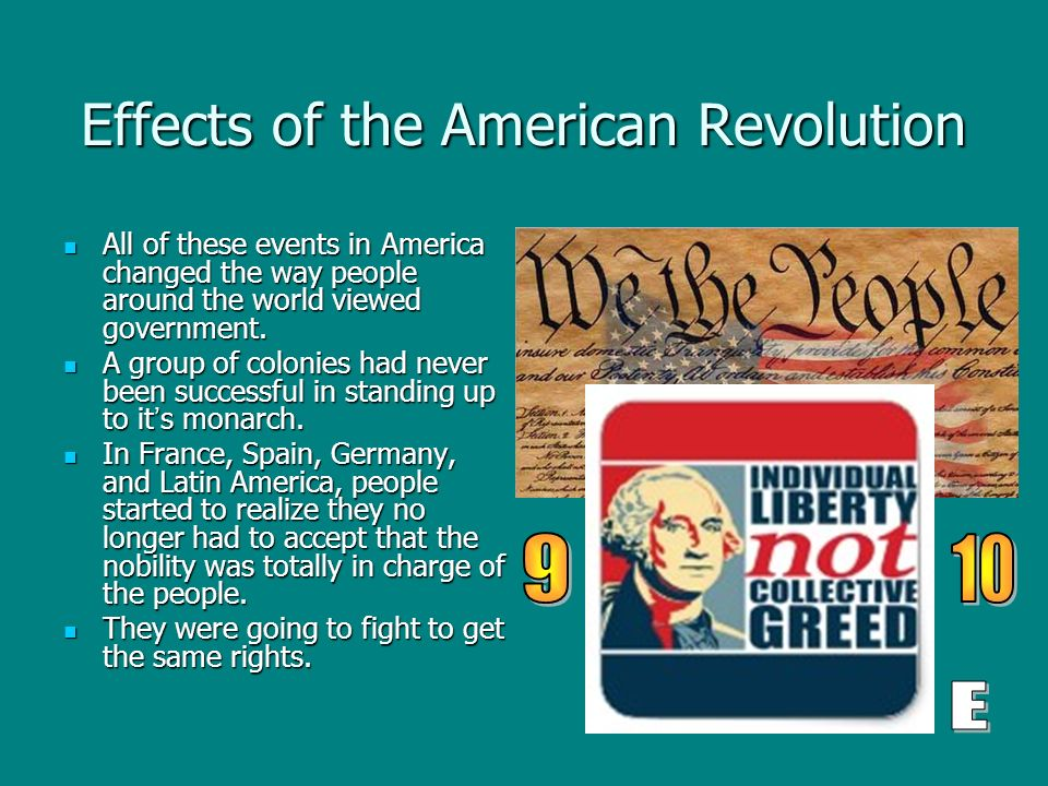 the impact of the american revolution to the rest of the world The impact of the first world war and its implications for europe today the impact of the first world war and its implications for europe today.