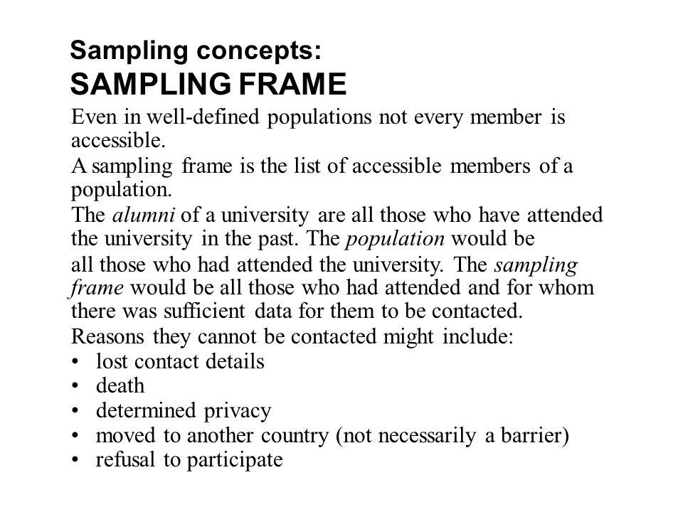 What Is A Sampling Frame In Sociology Frame Design