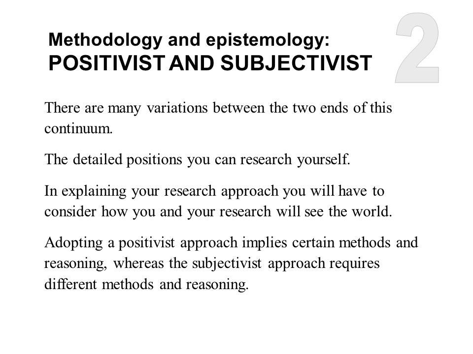 Positivist research approach