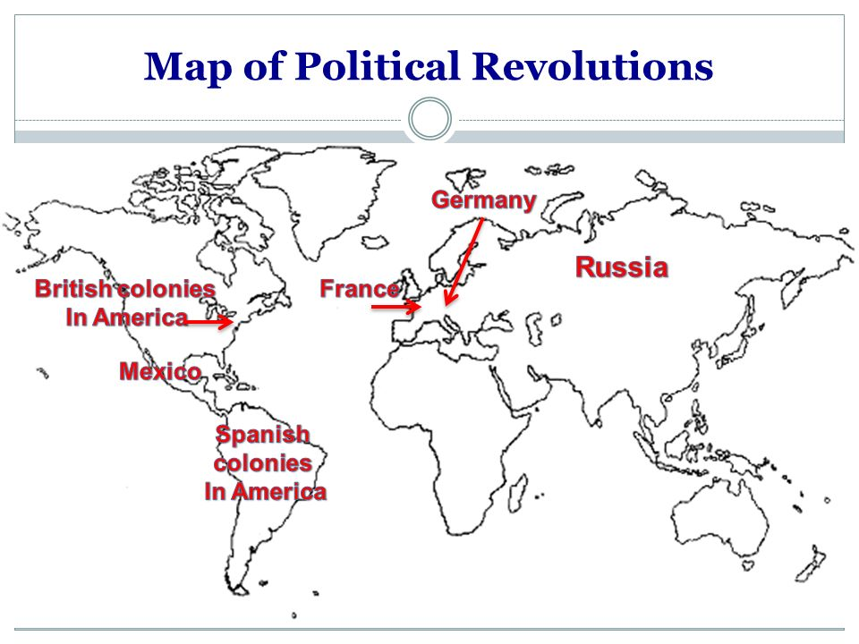 Map of Political Revolutions