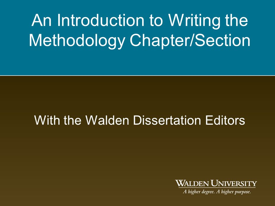 education dissertation methodology chapter .