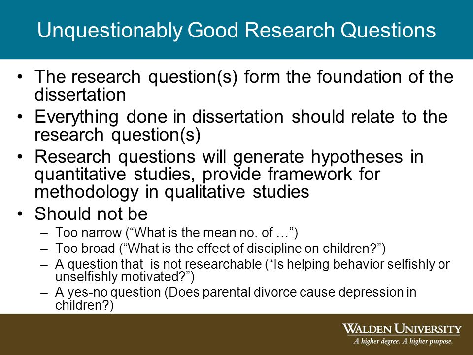 dissertation research questions hypotheses The concept and importance of alignment in dissertation development is of  research questions need to be aligned with hypotheses, hypotheses with the.