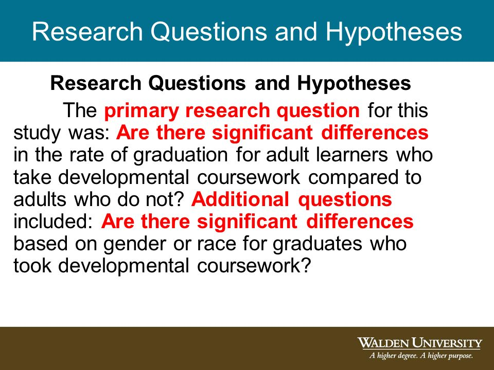 dissertation number of hypotheses Sample dissertation overview theory, and professional literature is described in chapter 2 a number of research design options usually are available to the.