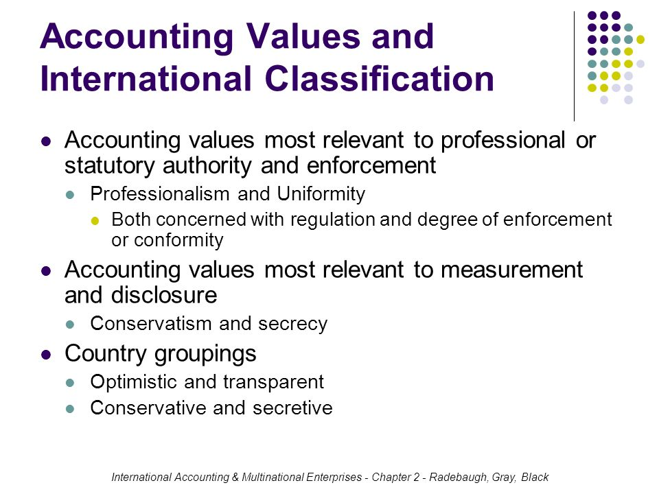 international accounting developments On february 27, 2006, the international accounting standards board (iasb) with   the development of a country is measured with statistical indexes such as.