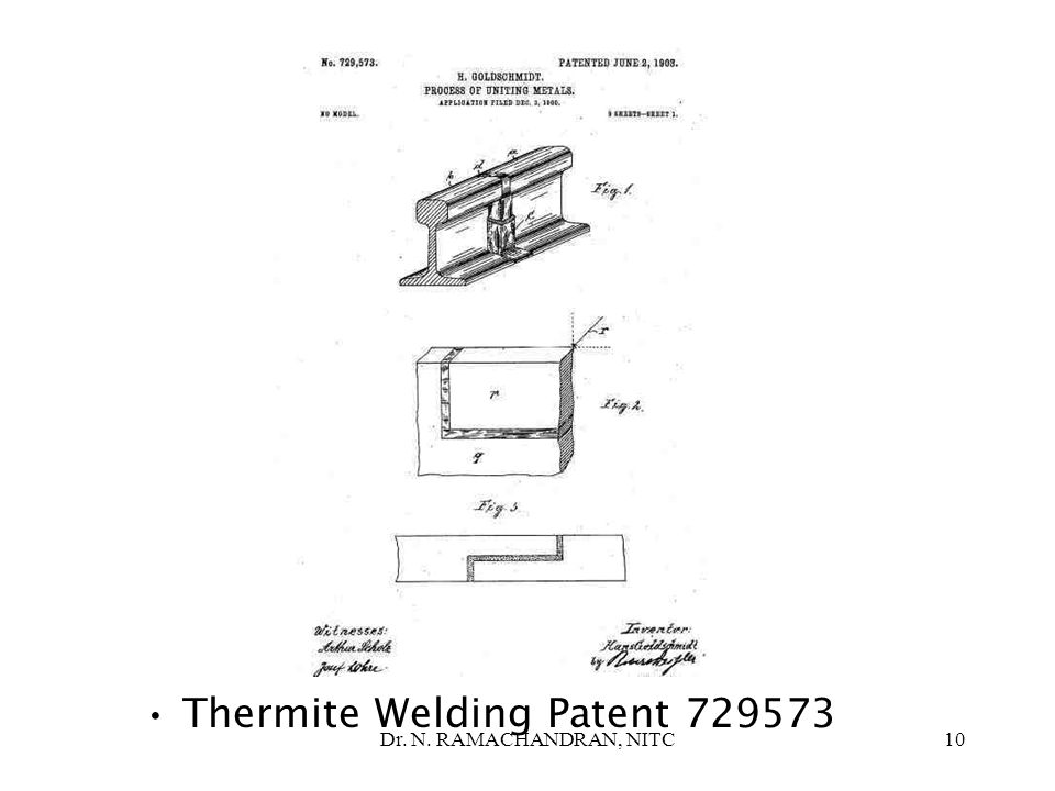 Thermite Welding Patent 729573