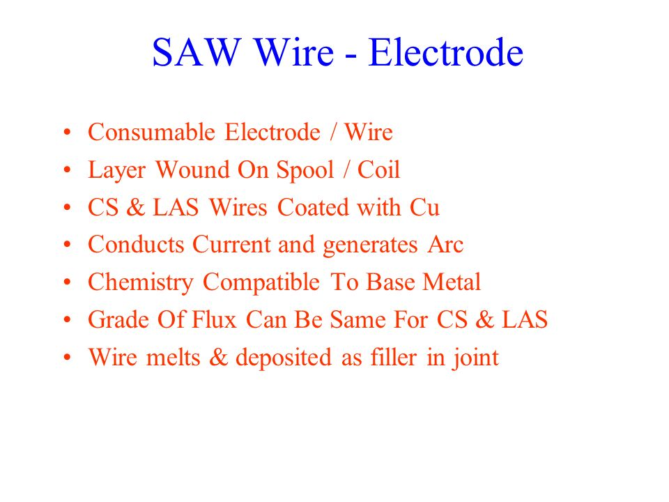 SAW Wire - Electrode Consumable Electrode / Wire