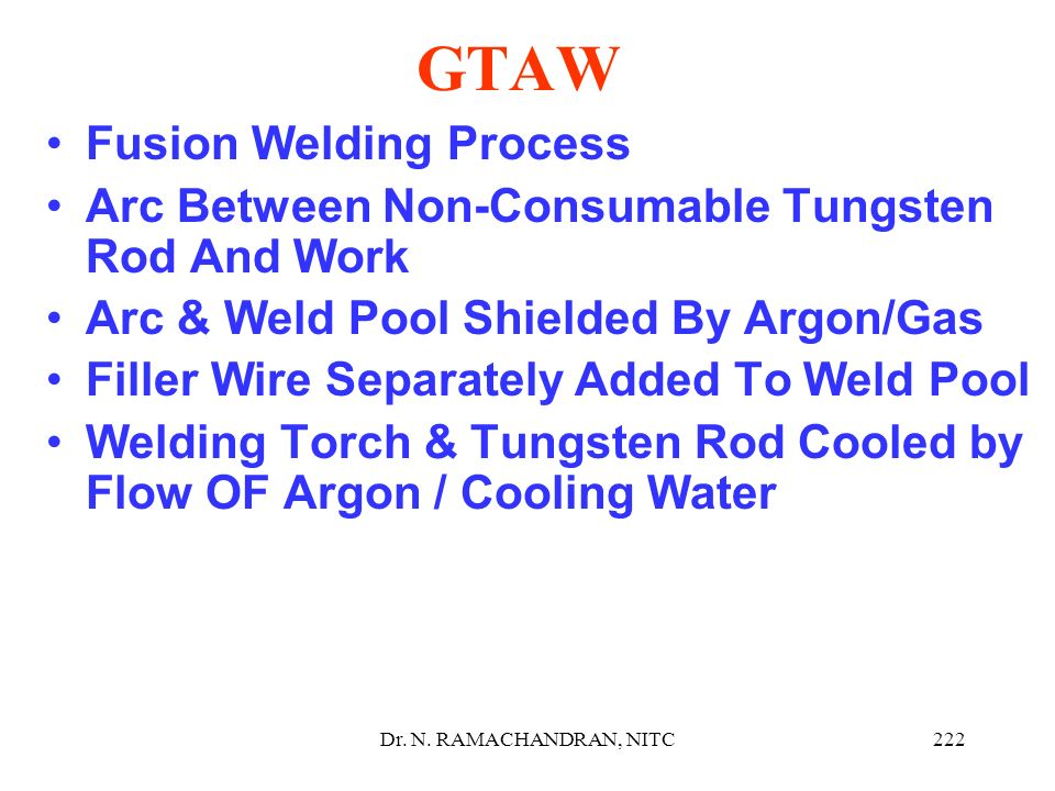 GTAW Fusion Welding Process