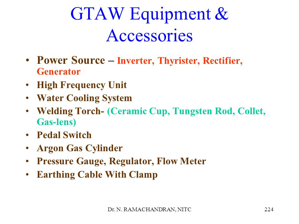 GTAW Equipment & Accessories