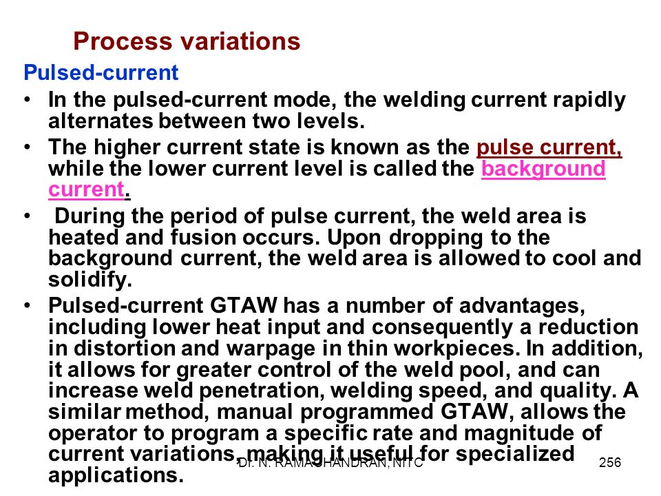 Process variations Pulsed-current