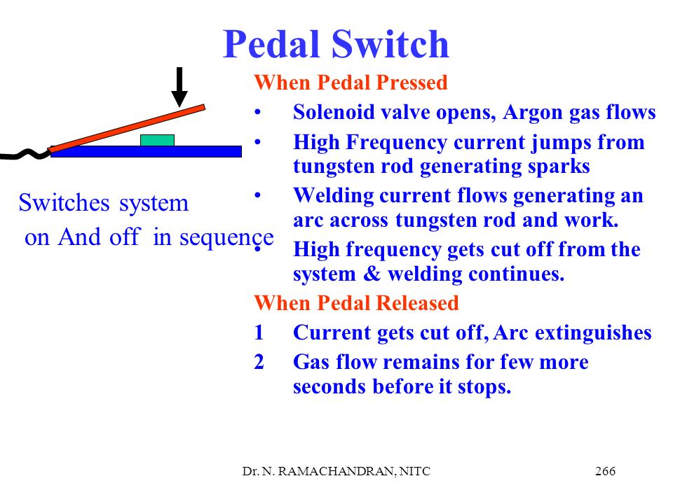 Pedal Switch Switches system on And off in sequence When Pedal Pressed