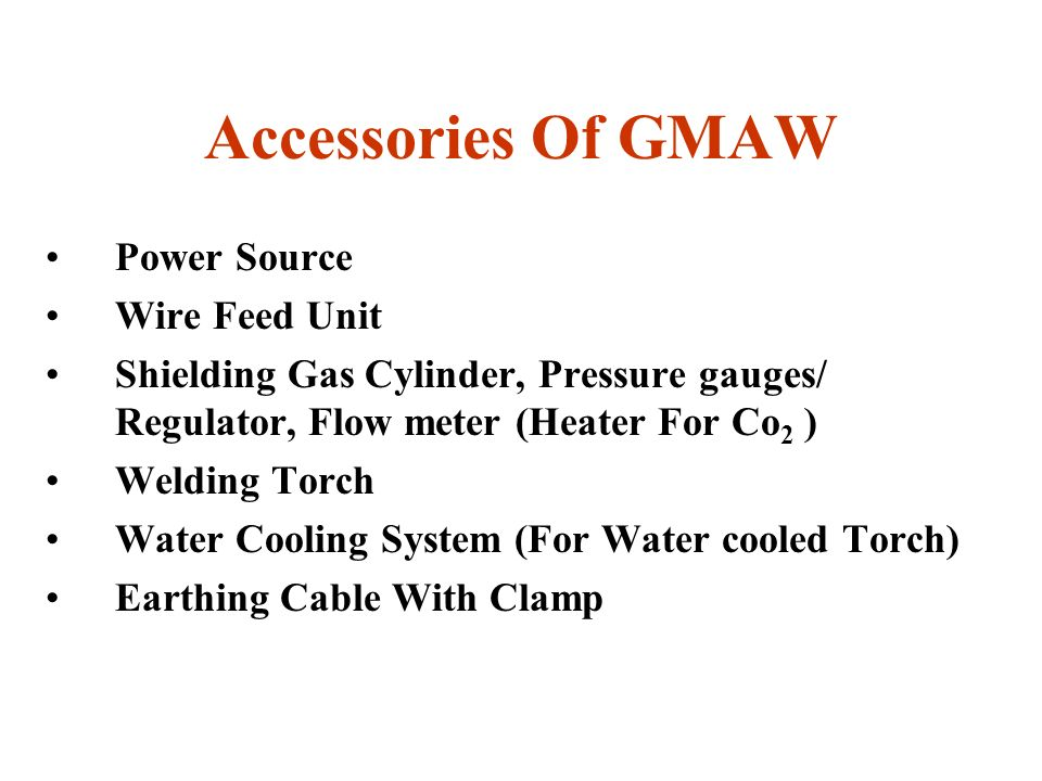 Accessories Of GMAW Power Source Wire Feed Unit