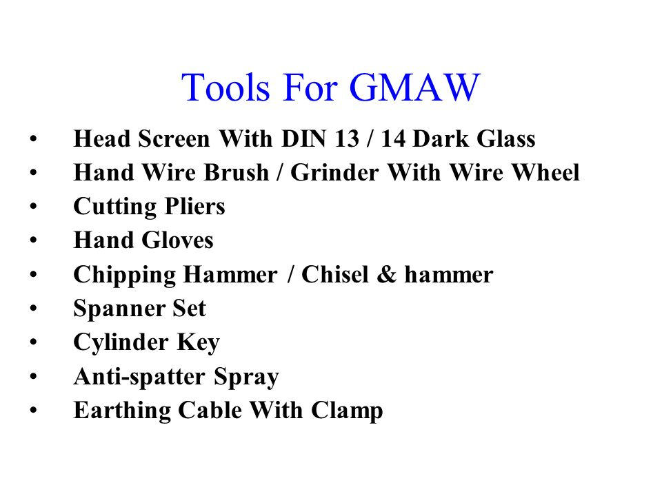 Tools For GMAW Head Screen With DIN 13 / 14 Dark Glass