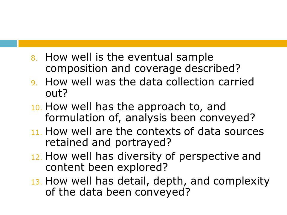 How well is the eventual sample composition and coverage described