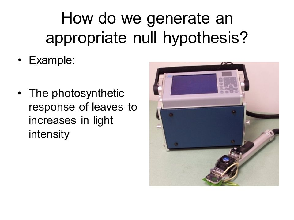 how to create a null hypothesis