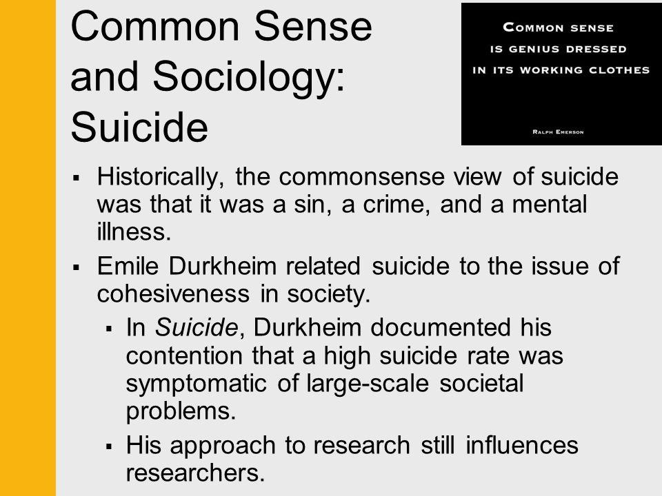 durkheim sociological issues surrounding suicide