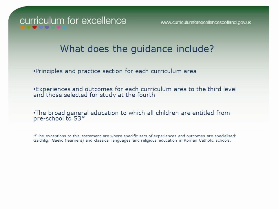 What does the guidance include