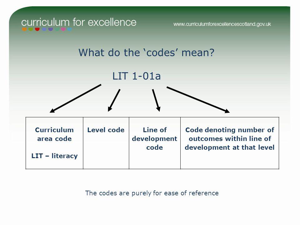Line of development code