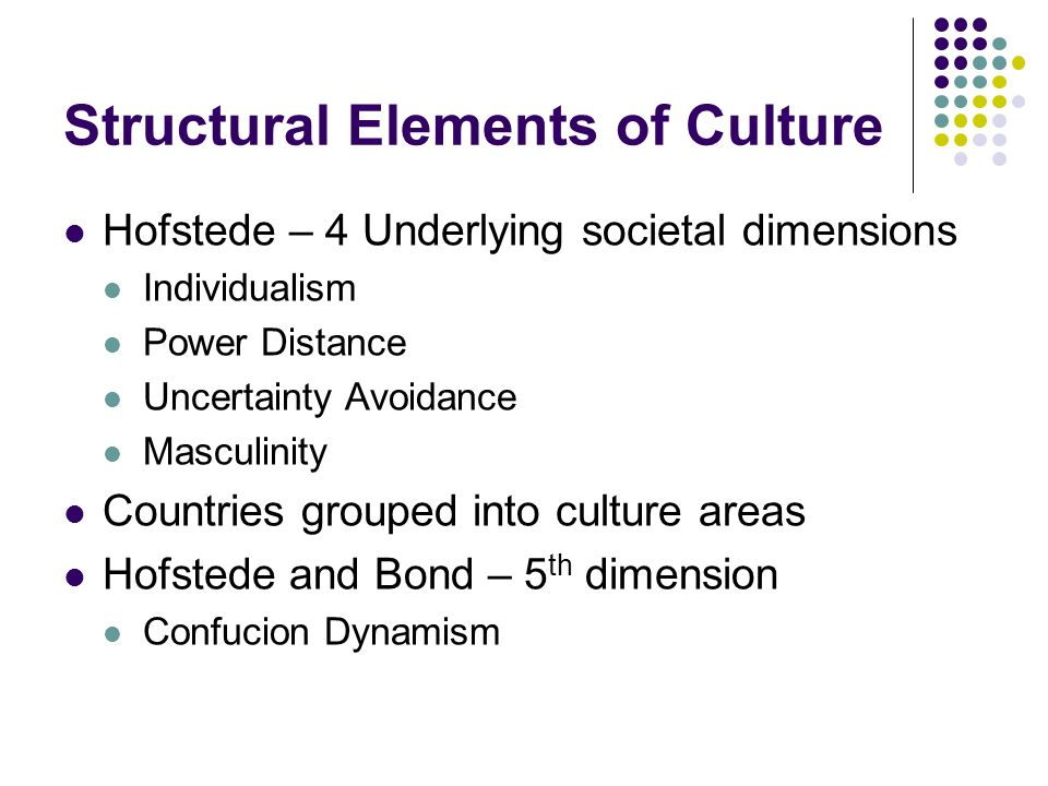 Structural Elements of Culture