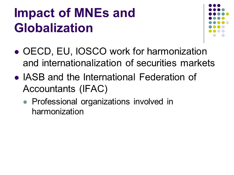Impact of MNEs and Globalization