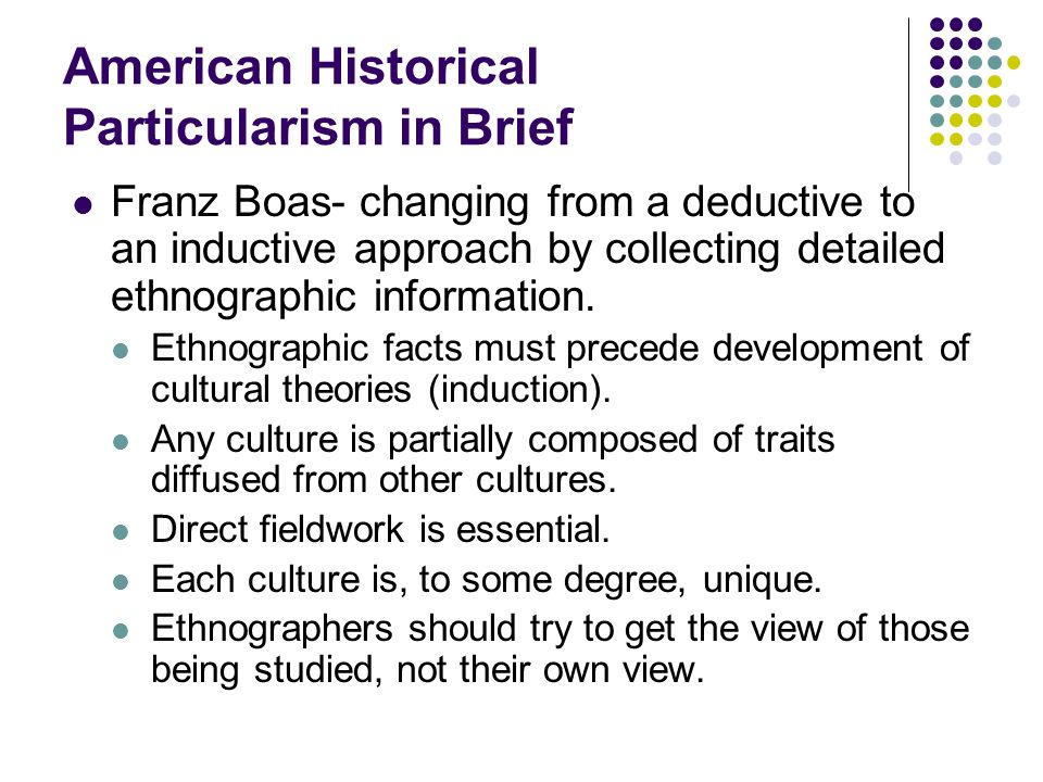 American Historical Particularism in Brief