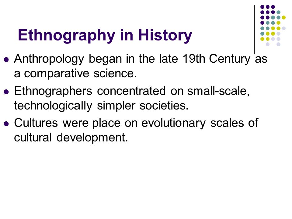 Ethnography in History