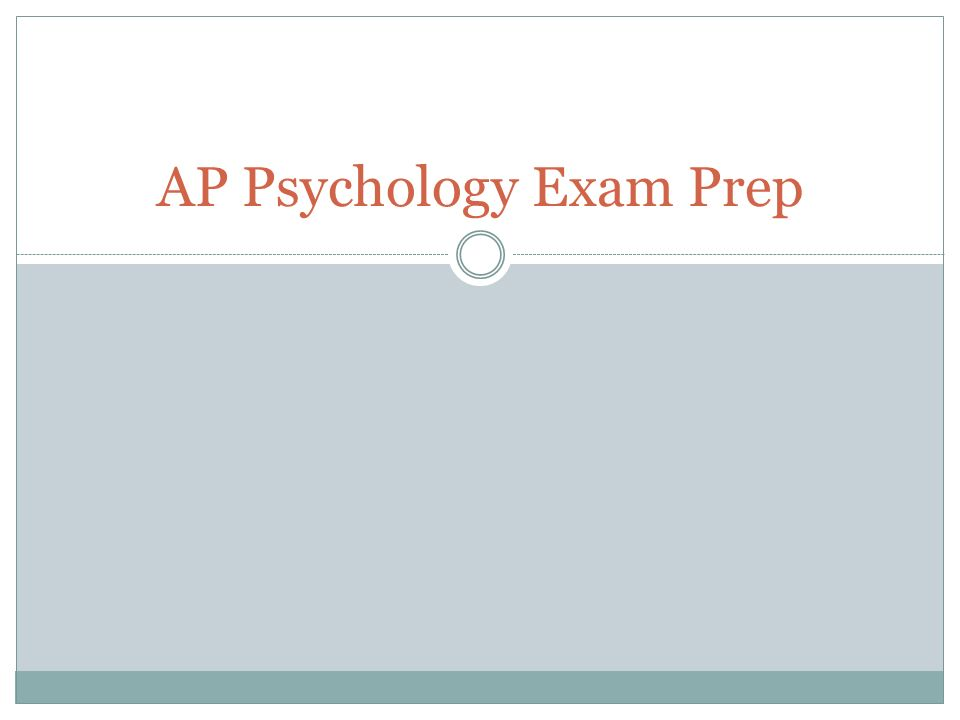 psychology exam 1