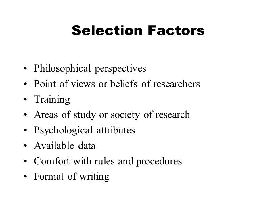 Post positivist case study
