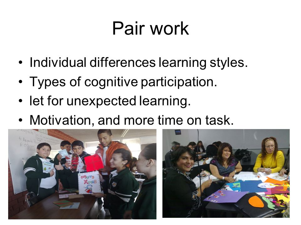 Collaborative Classroom Examples ~ Pairwork groupwork in the communicative classroom ppt