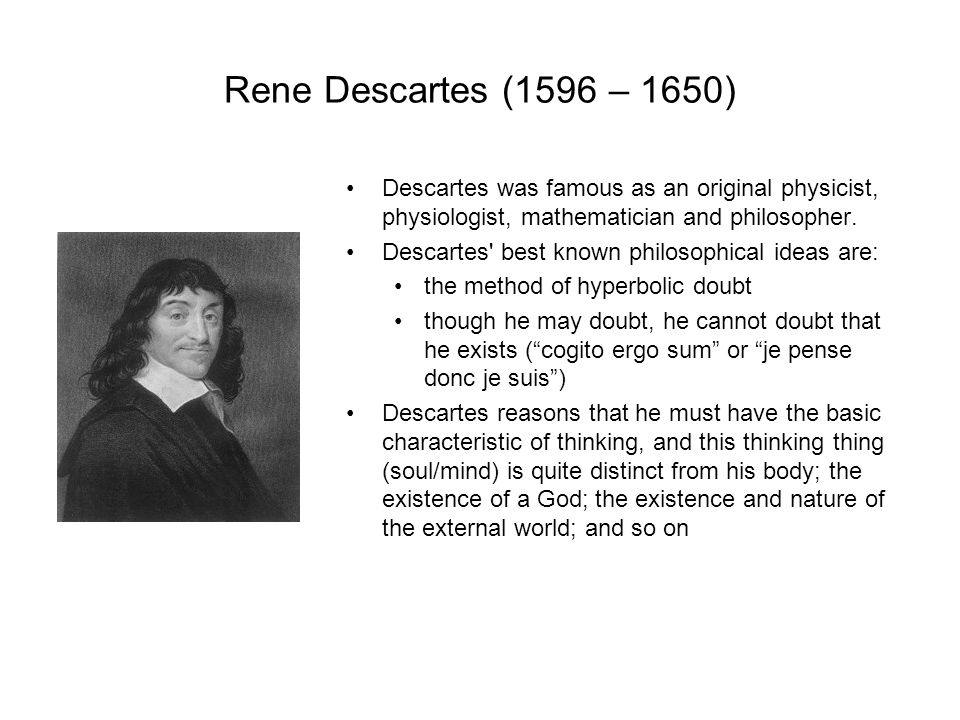 Rene descartes mind body essay