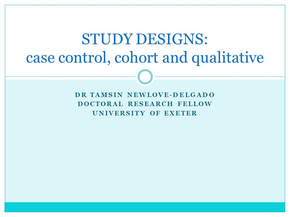 case control study design advantages Decisions regarding which study design to use rest on a number of  a case-control study would  but there were distinct advantages and limitations to.